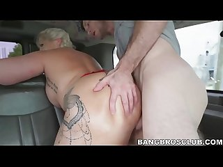 Borderline bbw babe excels in vehicular cowgirl riding