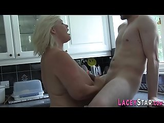 Cock jerking and sucking brit grandma
