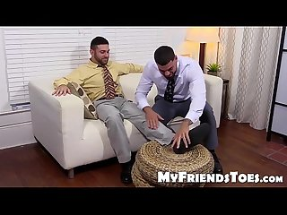 Hairy ricky loves to smell and worship seths feet and toes