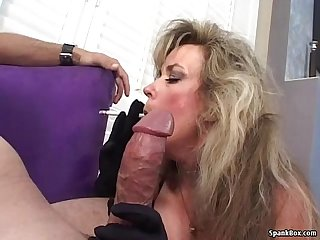 Mature loves sucking and smoking