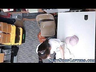 Shoplifting teen sucking