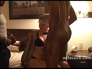 Wife a blonde milf bbc