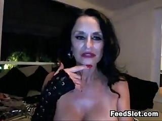 Dirty grandmother masturbates