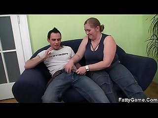 Big belly fatty seduces a stranger for money