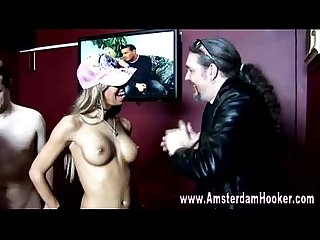 Real dutch hooker gets a cumshot
