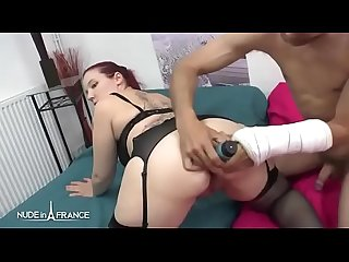 Chubby amateur french redhead analyzed n ass fucks her boyfriend