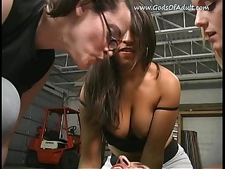 Three mistress mock slave spit in his mouth forced to swallow saliva.