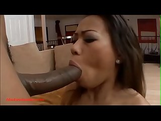Blacksruinasians.com tiny asian slut gets huge big long black cock huge facial