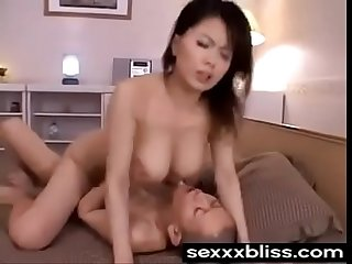 Japanese Sleeping mom miki sato and young boy part 6 at sexxxbliss com