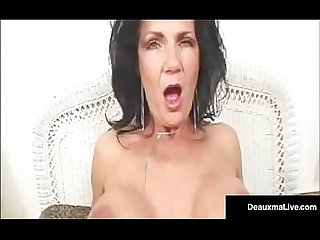 Green eyed mature milf Deauxma gets a dick in her tight ass