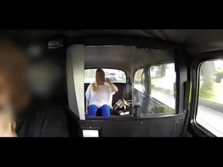 British blond girl gets fuck in fake cab
