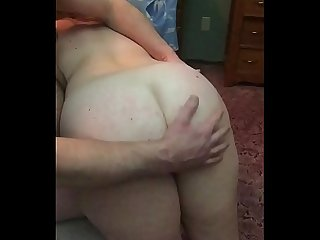 Naughty slut Milf wife receives her first otk bare ass spanking