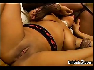 Ebony british lesbians with their toys