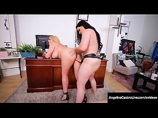 Phat Ass Lawyer Angelina Castro StrapOn Fucks Karen Fisher!