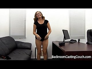 Tinder milf slut Assfuck painal creampie on backroom casting couch