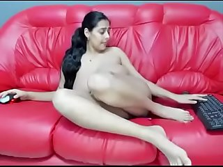 Indian milf on sofa naked and horny