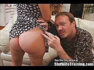 Tiny tittied wife petite fucked by big cock
