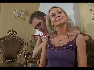 Shy milf massaged by son s friend
