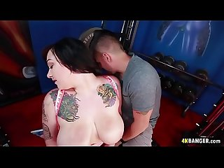 Big titted Scarlet Lavey Fucks In The Gym