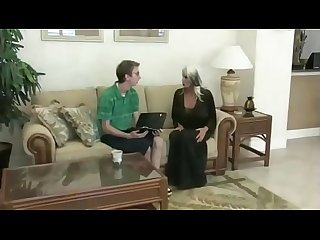 Nerd Fucks Mature Blonde MILF Sally D'angelo