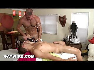GAYWIRE - Trace Michaels Massages Calvin Coons, Then They Have Gay Sex