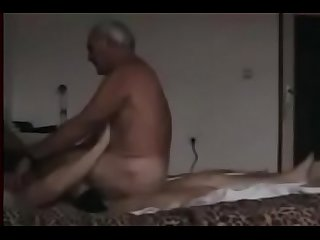 Grandpa rides on The other man S penis