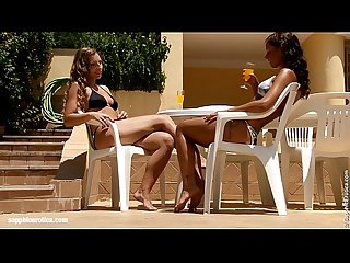 Sublime sunbathers by sapphic erotica sensual lesbian sex scene with morgan an