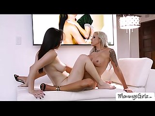 Naughty ladies Nina and Jelena enjoys pussy tribbing
