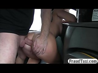 Sexy woman anal pounded by nasty driver in the backseat