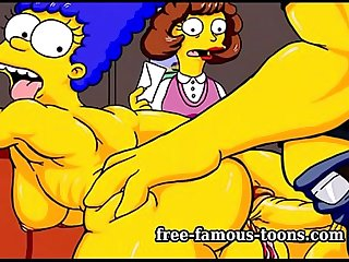 Simpsons parody hentai hard sex