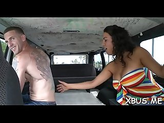 Bang up bitch goes wicked with a hot stud in his car