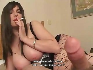 Watch sexy brunete fuck and smoke