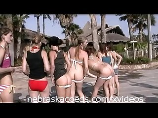 Whole sorority house of girls naked on spring break home video