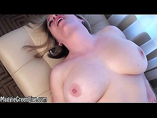 Busty Blonde Maggie Green Fingers Her Pussy by the Window!