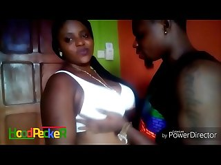 Getting naughty on camera with my busty Nigerian model.