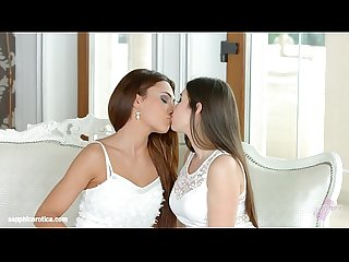 Incredible beauties on Sapphic Erotica Alexis Brill and Diana Dolce hot lesbian