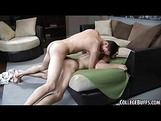 Horny college amateur hunk gets fucked anally