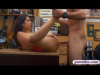 Big juicy tits babe nailed by pawn man at the pawnshop