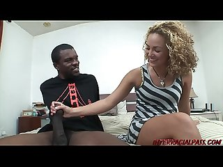 Young blonde Teagan gets huge black dick