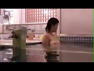 Japanese Lesbian Seduces at the Bathhouse