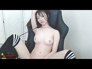 Korean horny Teen masturbates