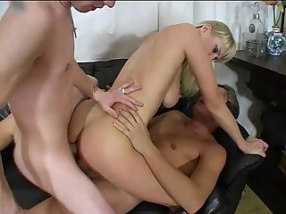 Three hot milfs are the prey of a crazy orgy and a dirty old man!