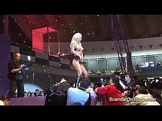 German stepmoms first sex show on stage
