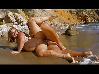 Curvy Blonde Mature Loves It In The Ass