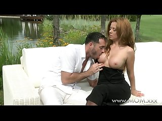 Mom redhead milf fucking outdoors