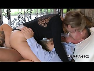 Horny clothed milf banging in bedroom