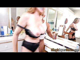 Milf sucks massive cock