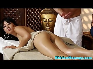 Smalltits asian babe banged during massage