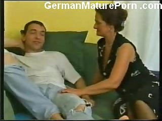 German granny fucking young guy