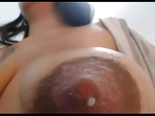 Super-Closeup Engorged Breasts - Suckling POV